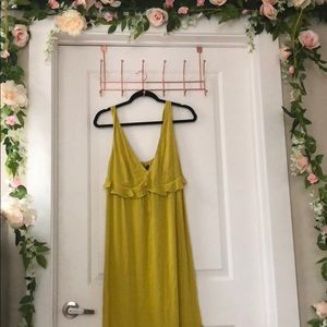 Chartreuse Maxi Dress